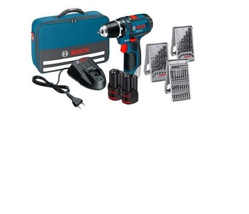 Bosch GSR 12V-15 in tool bag 2x2,0AH